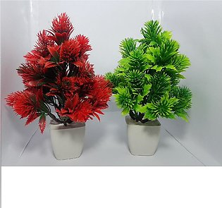 SV Traders-Pack of Two Pink & Red Tree Artificial Decoration Piece Best For Hom…