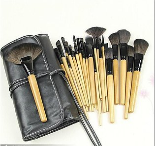 24 Pcs Professional Makeup Eyebrow Shadow Cosmetic Brush Set Kit With Pouch