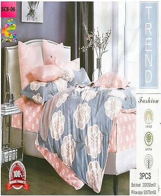 New Cotton Softy Foam Bedsheets With 2 Pillow Covers Scb-06 (R K)