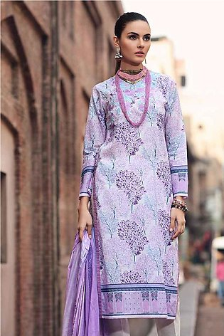 GA - GA - Gul Ahmed-Summer Collection 2019  Purple Lawn-2 PC Unstitched-TL-22...