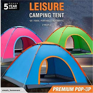 2 Person Parachute Camping Tent - Water Resistant - Multicolor