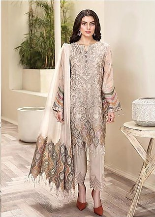 Full embiordered chiffon collection 2020 Arézu clothes girls and women