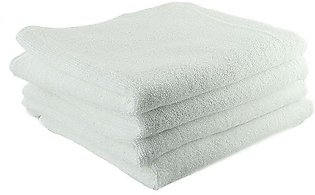 Pack of 4 - Cotton Hand Towel - White