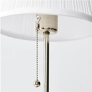 IKEA ARSTID TABLE LAMP, NICKLE-PLATED, WHITE