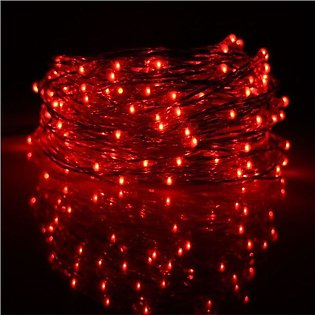 Fairy Led Light String - 50 Feet - Red
