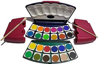 Pelikan 24 Water Colour color Set With 2 Paint Brushes