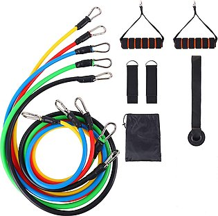 11-piece Tension Band Set Fitness Rally Up To 150 Pounds Exercise Pull Up Belt …