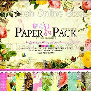 Scrapbook Paper Craft Pattern 12×12 Inches – Pattern Paper Pack – PS007