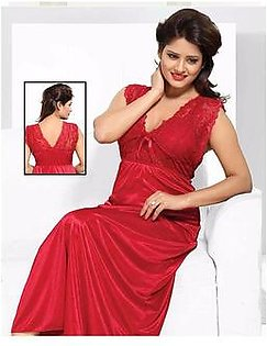 Red Bridal Nighty For Women - 650