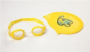 Bestway Hydro-Swim Lil Racer Swimming Goggles and Cap Set For Kids - 6 inches