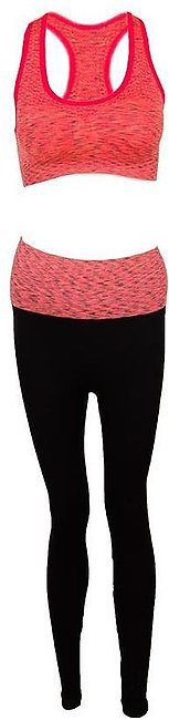 Sports Bra and Trouser Set For Women - Red