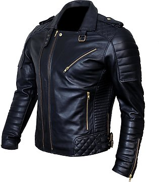 DE - MARCA New Bikers Leather Jacket Men, A Craftsmen & Bikers Choice Quilted...