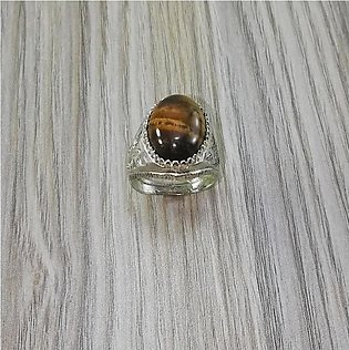Hoor Fashion African Tiger Eye Stone Silver Ring For Men