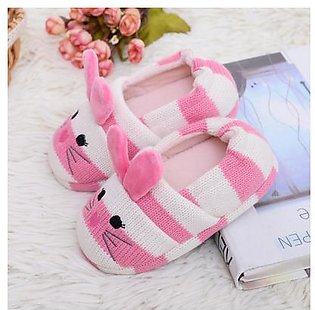 Toddler Infant Kids Baby Warm Shoes Boys Girls Cartoon Soft-Soled Slippers