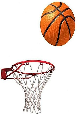 7 Stars Basket Ball With Ring And Complementary Net