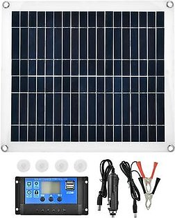 25W Flexible Polycrystalline Solar Panel Controller Battery Charger