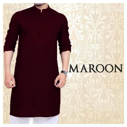 Maroon Kurta With Pajama For men