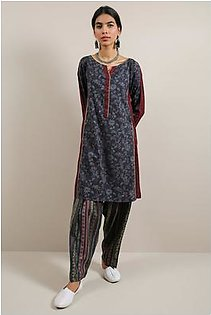 Generation-Pre Fall Collection Bead work 2 Pc Cotton Contemporary-B29281T-DarkGrey