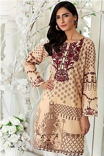 So Kamal Women Summer Collection 2019 Skin 1 PCS Pret - Embroidered Int:XS Lawn Shirt DPL19-544