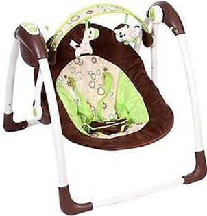6568 - Baby Auto Swing - Brown