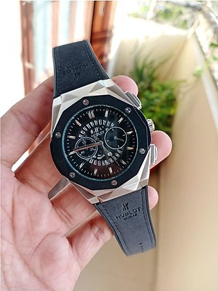 Hublot Genve Smart Watch with Date Rubber Strap