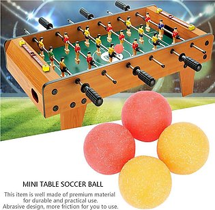 4PCS Roughened Surface Mini Table Soccer Footballs Balls Tabletop Game Ball 36mm