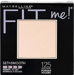 Maybelline New York Fit Me Set + Smooth Powder Makeup, Nude Beige 125