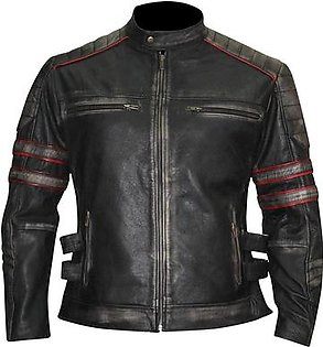 Leatherly Men's Super Cafe Racer Biker Leather Jackets Motorcycle leather Jacket Collection