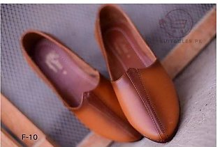 Leather Craft Nagra Arabic Shoes For Men's