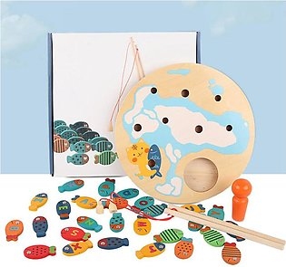 Magnetic Wooden Fishing Game for Toddlers Alphabet Catching Counting Preschool …
