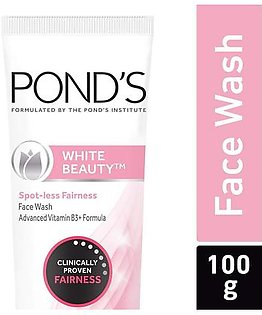 Ponds White Beauty Face Wash 100 gm Lightning Facial Foam for soft smooth skin