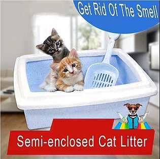 1410 Pet litter tray with scoop 14'' x 10'' inch (Cat Litter Box tray, Litter P…
