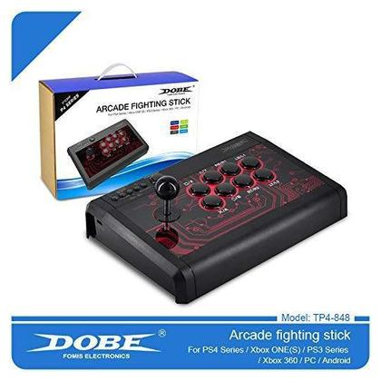 Dobe  Arcade Fighting Stick Universal Fightstick Mini Arcade Fight Stick Joystick Controller for PS4 / PS3 / XBOX ONE/ XBOX ONE S / 360 / PC / Android