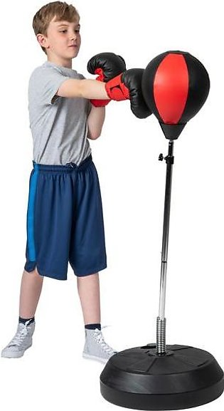 Hongwu Adjustable Free Standing Punching Speed Ball Bag with Boxing Gloves and …