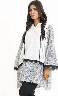 EGO Fall Collection 2019 Feathered OffWhite Cotton Kurti For Women