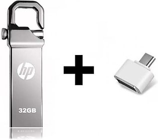 HP 32 gb usb -Flash drive with fast data transfer rate + Free OTG Converter -...