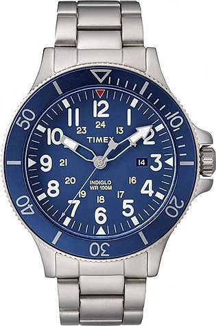 Timex Allied Coastline Blue Dial Stainless Steel Watch for Men - TW2R46000