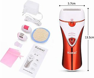 Kemei KM 1107 -Professional Epilator For Women (3 in 1)