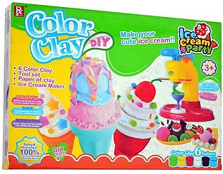 DIY Clay to Ice-Cream Making Machine Toy with Clay Sets