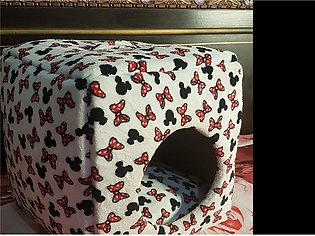 2 in 1 Foldable Cat Bed for both Winter & Summer