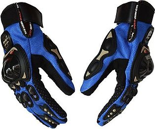 FU Touch Screen Motorcycle Gloves Riding Training Anti-wear Protective Gloves - Black M