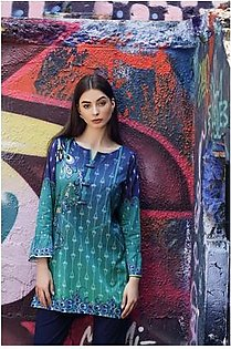 So Kamal Women EID Collection Green 1 PCS Pret - Printed Lawn Int:XS DPL 19-294
