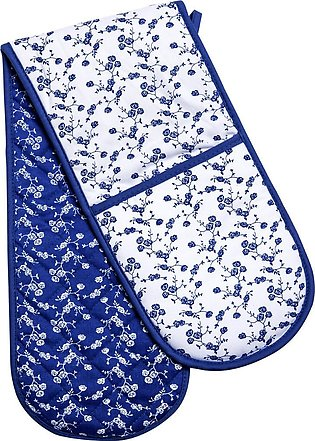 Blue Rose Double Oven Glove