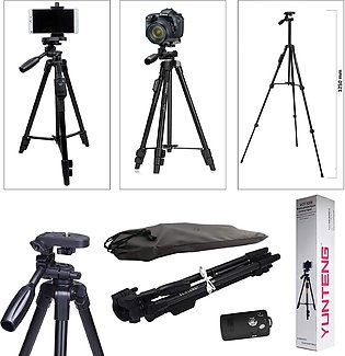 3110 Portable and Foldable Camera - Tripod with Mobile Clip Holder Bracket, Sta…