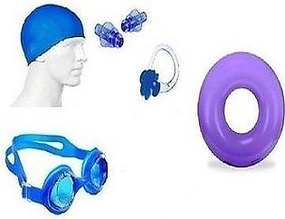 Pack of 5 Swimming Goggles Nose Ear kit Shorts & Cap