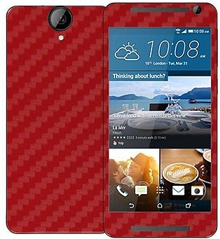 HTC One E9+  Carbon Fiber Texture Mobile Skin - Red