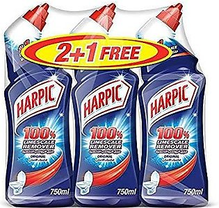 PACK OF 3 : HARPIC LIMESCALE REMOVER ORIGINAL LIME SCALE AND STAIN REMOVER 75...