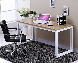 Simple Modern Computer Desk PC Laptop Office Desk Durable Study Writing Table