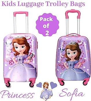 Princess Sofia Hard Sided Luggage Trolley Bag for Kids Sweet Girl Princess So...