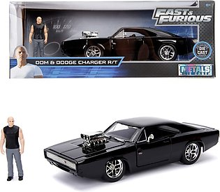 Jada Toys  Fast & Furious, 1970 Dodge Charger Street, 1:24 Toy Car Incl. Domini…